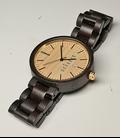 Zwart Houten horloge