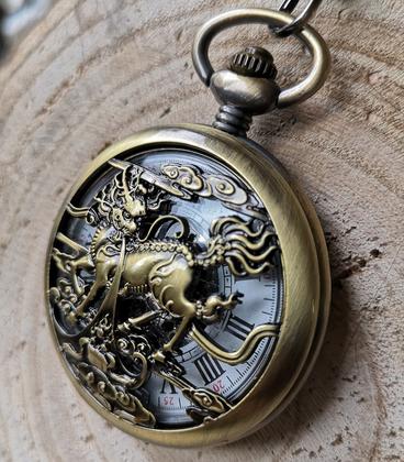 Vestzakhorloge phoenix vleugel met automatisch uurwerk