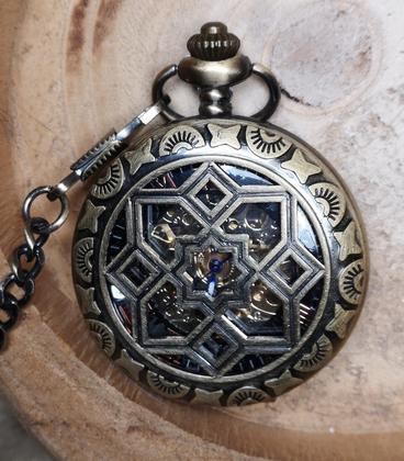 Vestzakhorloge 'Bloemen' met automatisch uurwerk