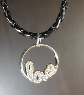 ketting love strass