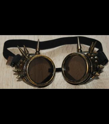 steampunk zwart leren riem tas en flesjes