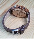 Houten Horloge met dualtime