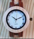 Houten horloge 2-kleurig