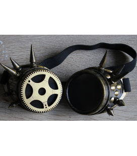 steampunk goggles met spikes tandwiel