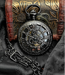 Vestzakhorloge met mechanisch uurwerk 'Steampunk'