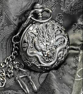 Vestzakhorloge met mechanisch uurwerk 'Zwarte Draak'