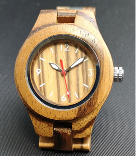 GN-Art Zebra-houten Dames Horloge