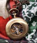 Vestzakhorloge met mechanisch uurwerk 'Brons'