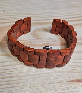 Zebrahout horlogeband 22 mm