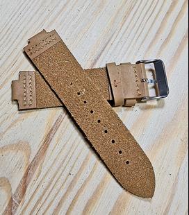 Bruin Rundleren Horlogeband voor houten horloge