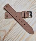 Bruin Rundleren Horlogeband 20 mm