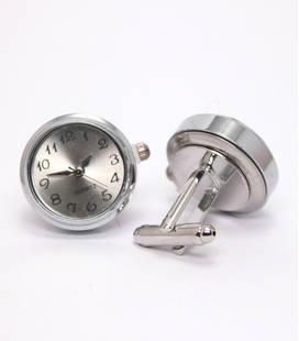 Manchette knopen met uurwerk