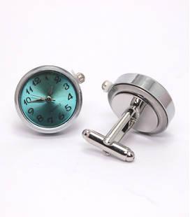 Manchetknopen met Quarts-uurwerk
