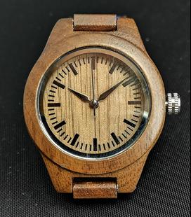 Zebra-houten Dames Horloge