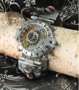Steampunk horloge 'Steel master'