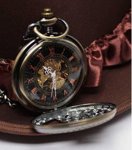 Vestzakhorloge met mechanisch uurwerk 'tandwiel'