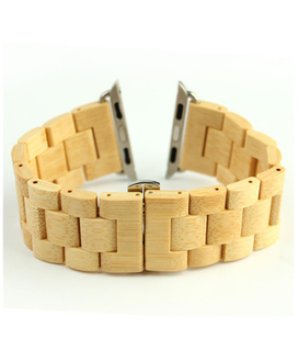 24mm Bamboe houten Apple watch horlogeband voor 42 mm I-Watch