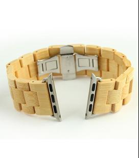 Bamboe houten Apple watch horlogeband, 24 mm