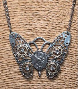 Zilverkleurige hanger Vlinder